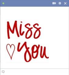 I Miss You Facebook Emoticon