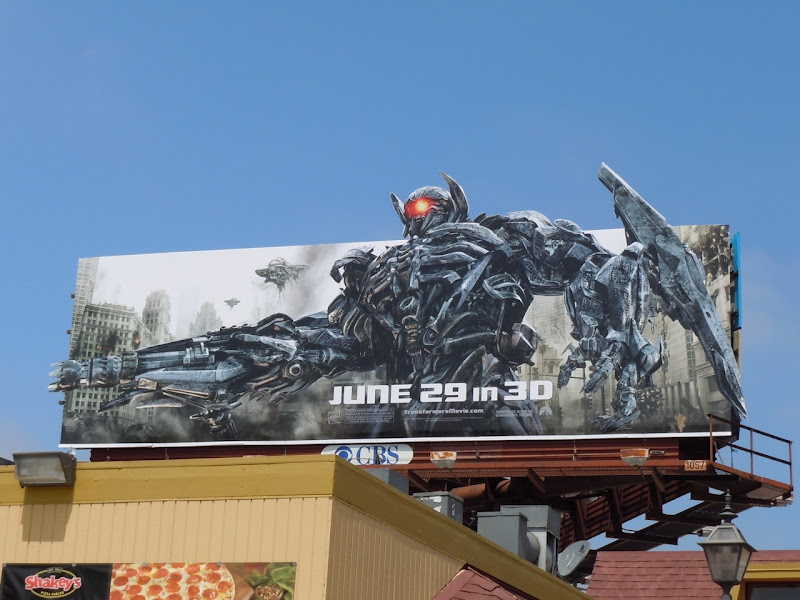 Transformers 3 Shockwave movie billboard