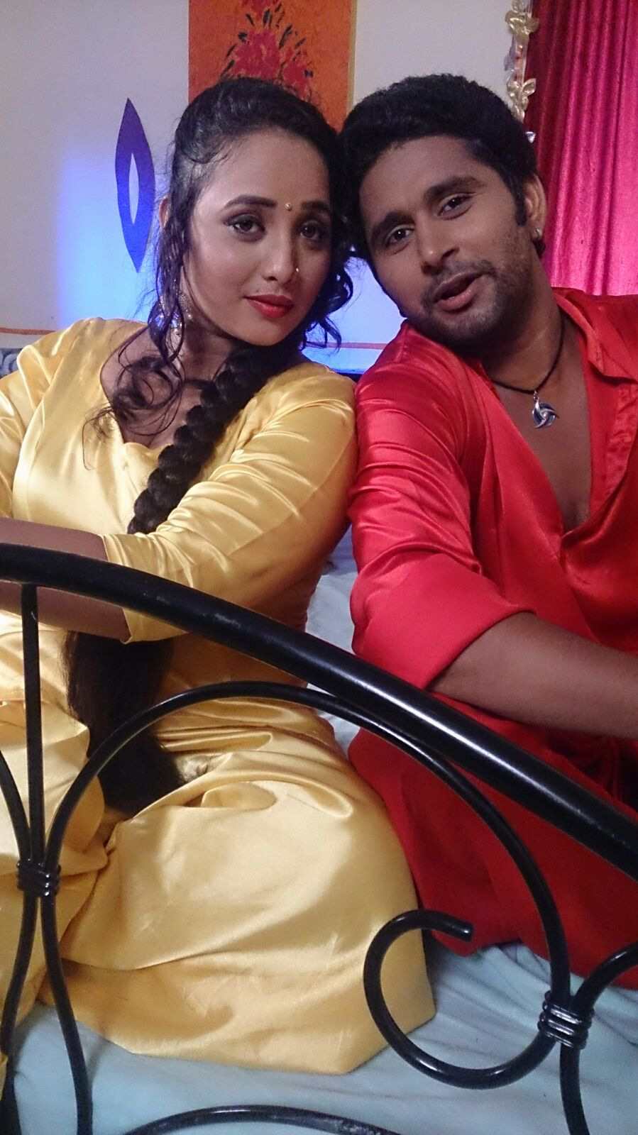 Yash Mishra, Rani Chatterjee on Set of Ichhadhari Bhojpuri Film Shooting photo