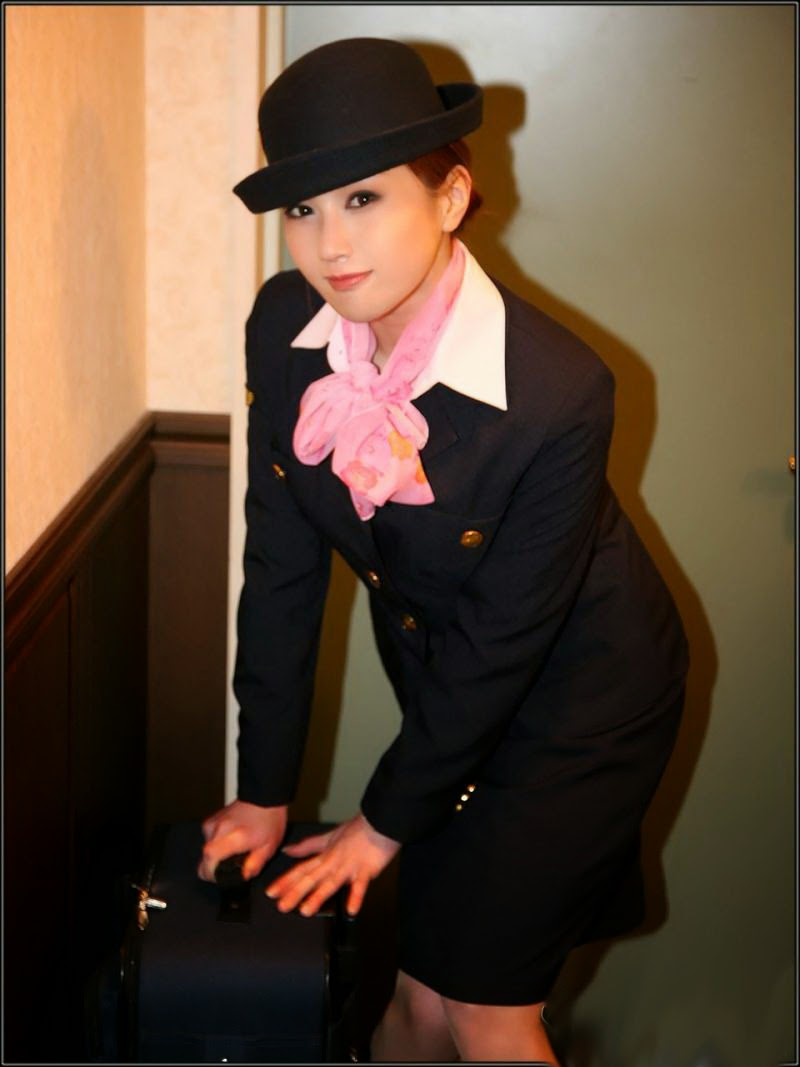 Beautiful Air Hostess Costume In Japan  World Stewardess -9692