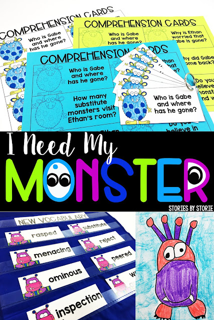 I Need My Monster is a great book to read in the weeks leading up to Halloween. These comprehension questions, vocabulary activities, graphic organizers, and monster directed drawings work well with the story.