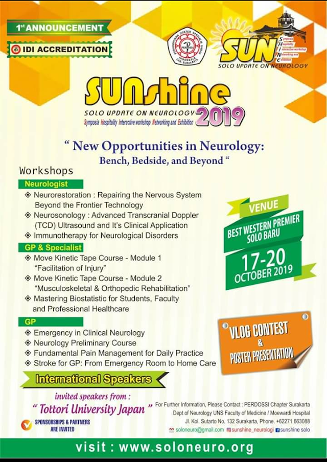Solo Update On Neurology, Symposia, Hospitality, Interactive Workshop, Networking and Exhibition  Annual Symposium and Workshop (October 17th-20th 2019)