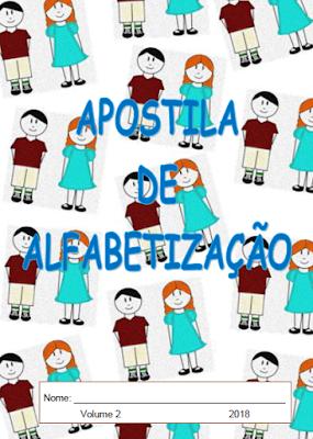 Capa da Apostila de alfabetização: Textos e Palavras - volume 2
