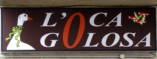 "L'oca golosa"", The Goose with a Sweet Tooth, Via Ernesto Rossi, Livorno"