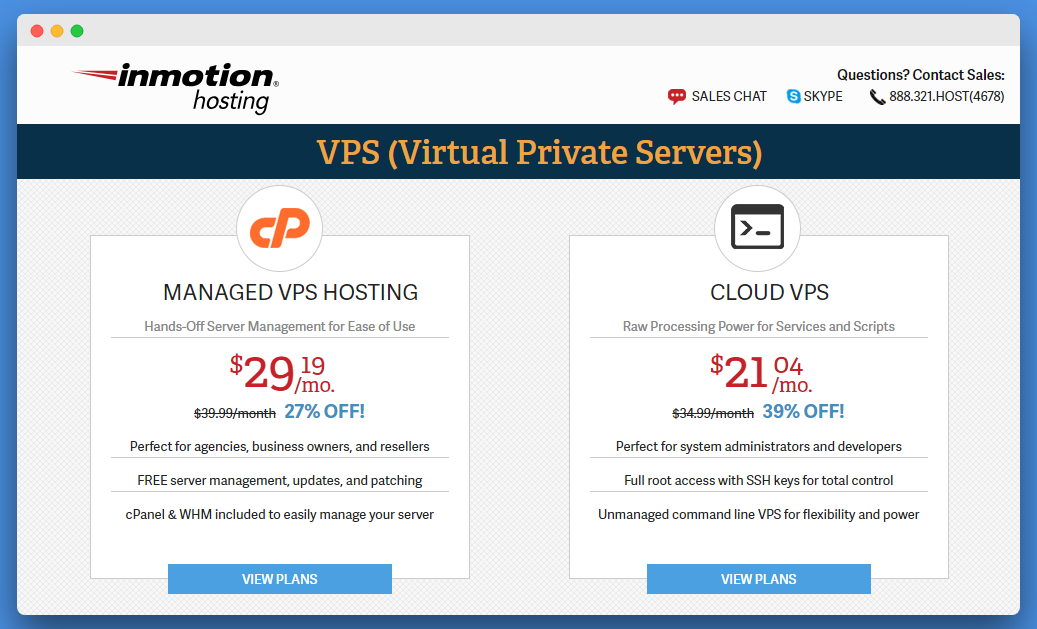Inmotion VPS Hosting