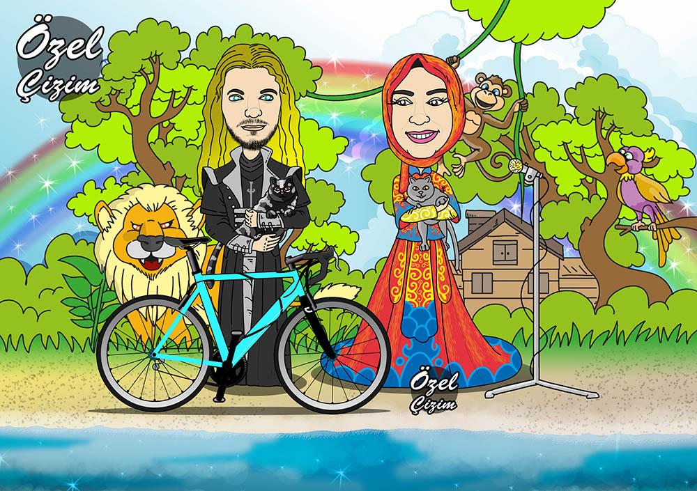 karikatürlü düğün davetiyesi, düğün davetiyeleri, karikatürlü davetiye, kişiye özel düğün davetiyesi, davetiye modelleri, davetiye çizdir, eğlenceli davetiye, davetiye fikirleri, Özel Çizim,