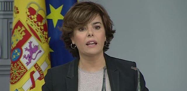 Sáenz de Santamaría pide autorizar el 155 para salvar el «autogobierno frente al desgobierno independentista»