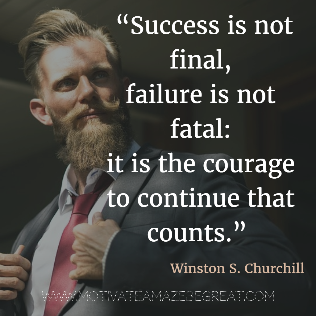 Ponder this Quote: On Failure by Winston Churchill | The ... |Powerful Quotes About Failure Churchill