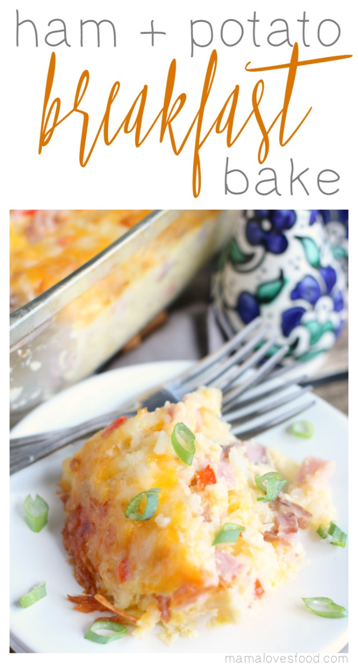 Breakfast Casserole Ham and Potato Breakfast Bake Recipe