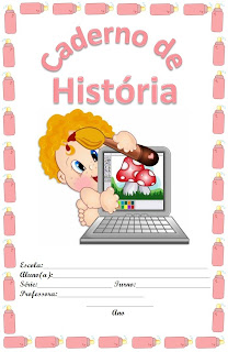 capa para cderno bebe rosa historia