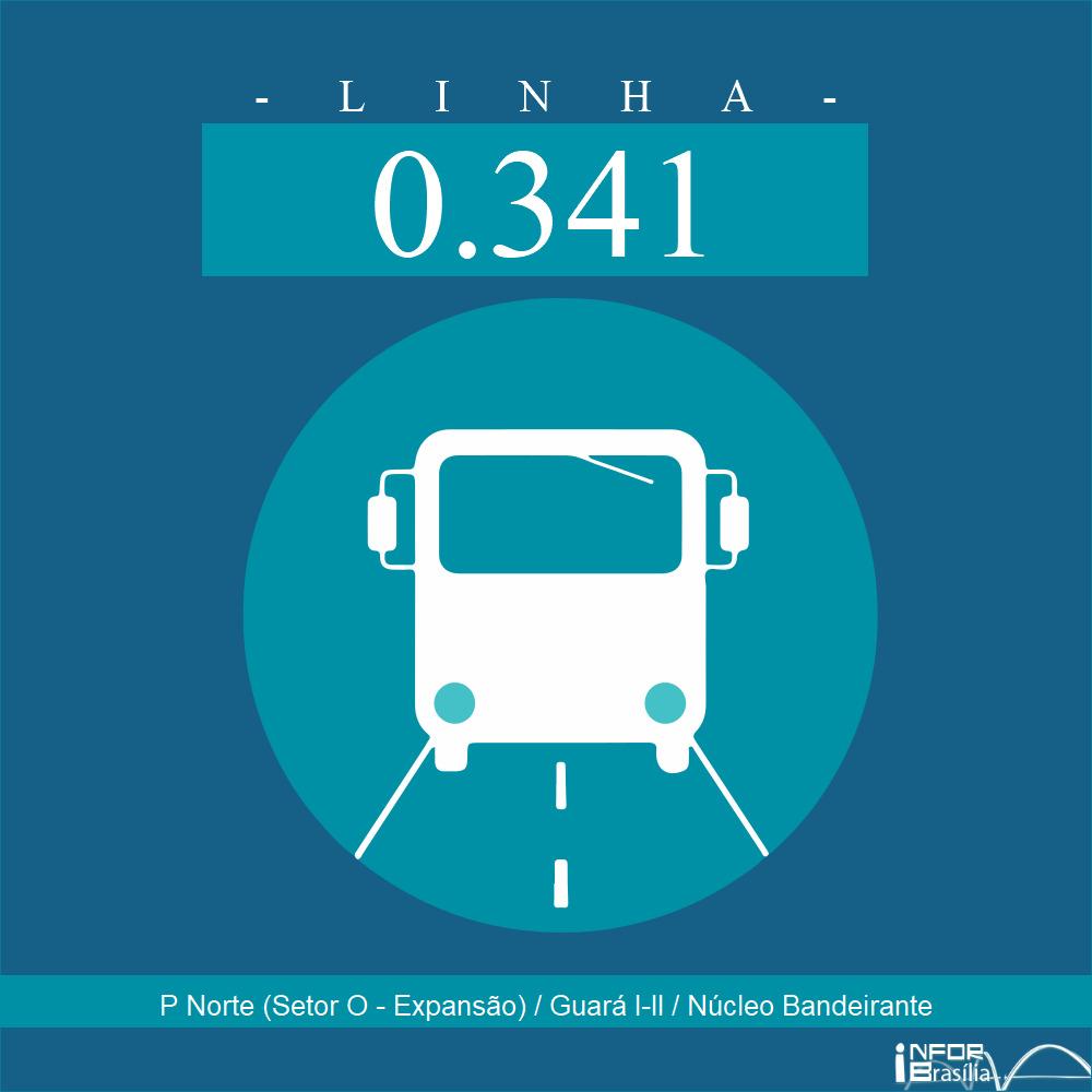 Horário de ônibus e itinerário 0.341 - P Norte (Setor O - Expansão) / Guará I-II / Núcleo Bandeirante