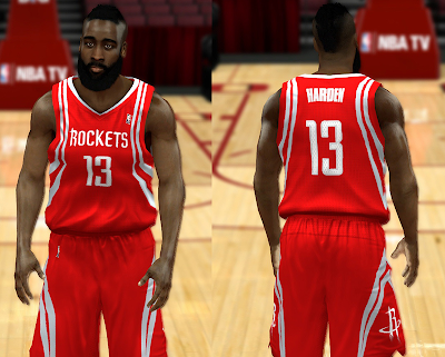 NBA 2K14 Houston Rockets Jersey Mod Pack