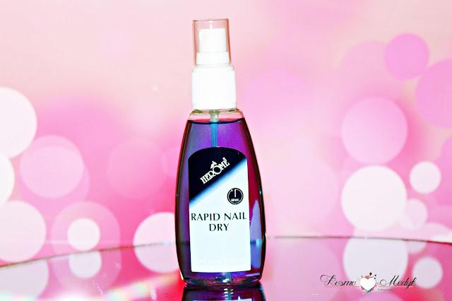 Herome Rapid Nail Dry - preparat przyśpieszający wysychanie lakieru - spray. | Opakowanie