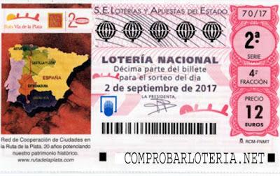 loteria nacional del sábado 2 de septiembre de 2017
