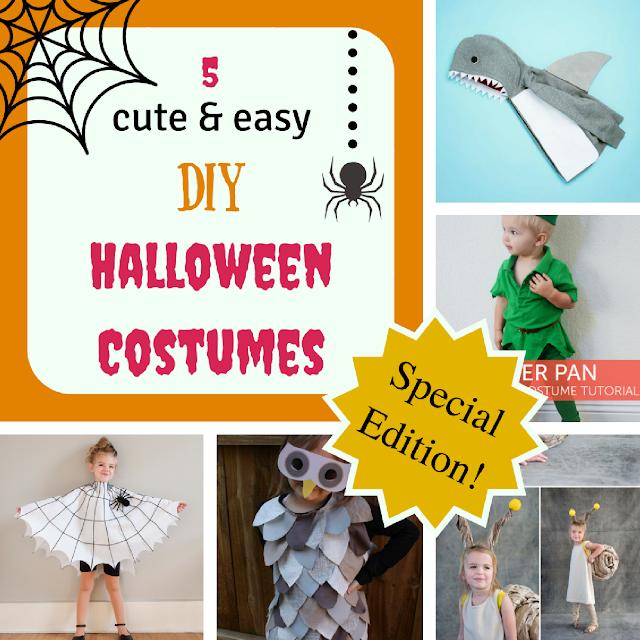 5 cute & easy DIY Halloween costumes