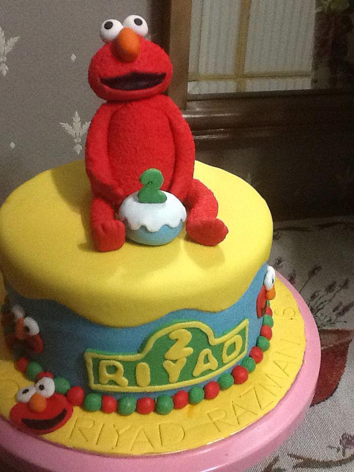 Shajajewel Elmo Birthday Cake For My Nephew Riyad