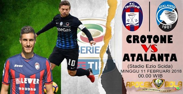 Prediksi Crotone vs Atalanta 11 Februari 2018