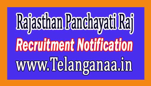 Rajasthan Panchayati Raj Recruitment Notification 2016