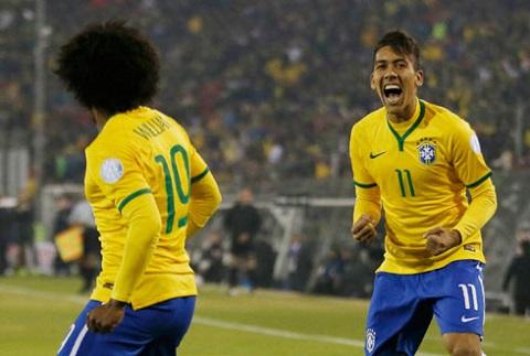 Firmino với ăn mừng ghi bàn thắng
