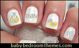 Baby Shower Set 4 Nail Art Decals