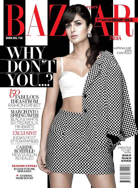 Katrina Kaif on the cover of Harper's Bazaar India (March 2013)