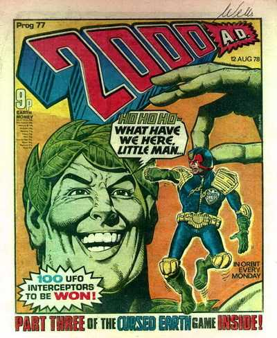 2000 AD Prog 77, Judge Dredd vs the Jolly Green Giant