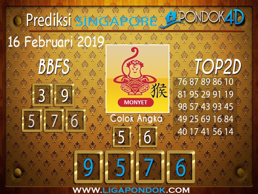 Prediksi Togel SINGAPORE PONDOK4D 16 FEBRUARI 2019