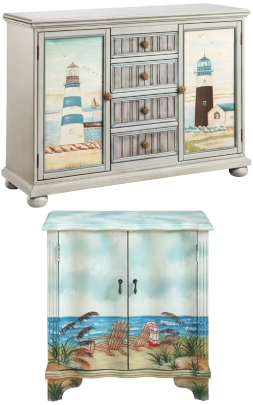 Coastal Door Cabinets Art Paintings Furniture Accent Pieces