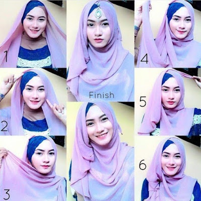 Tutorial Hijab Pengantin Muslimah Model Jilbab Syar'i untuk Akad Nikah dan Resepsi Pesta Pernikahan