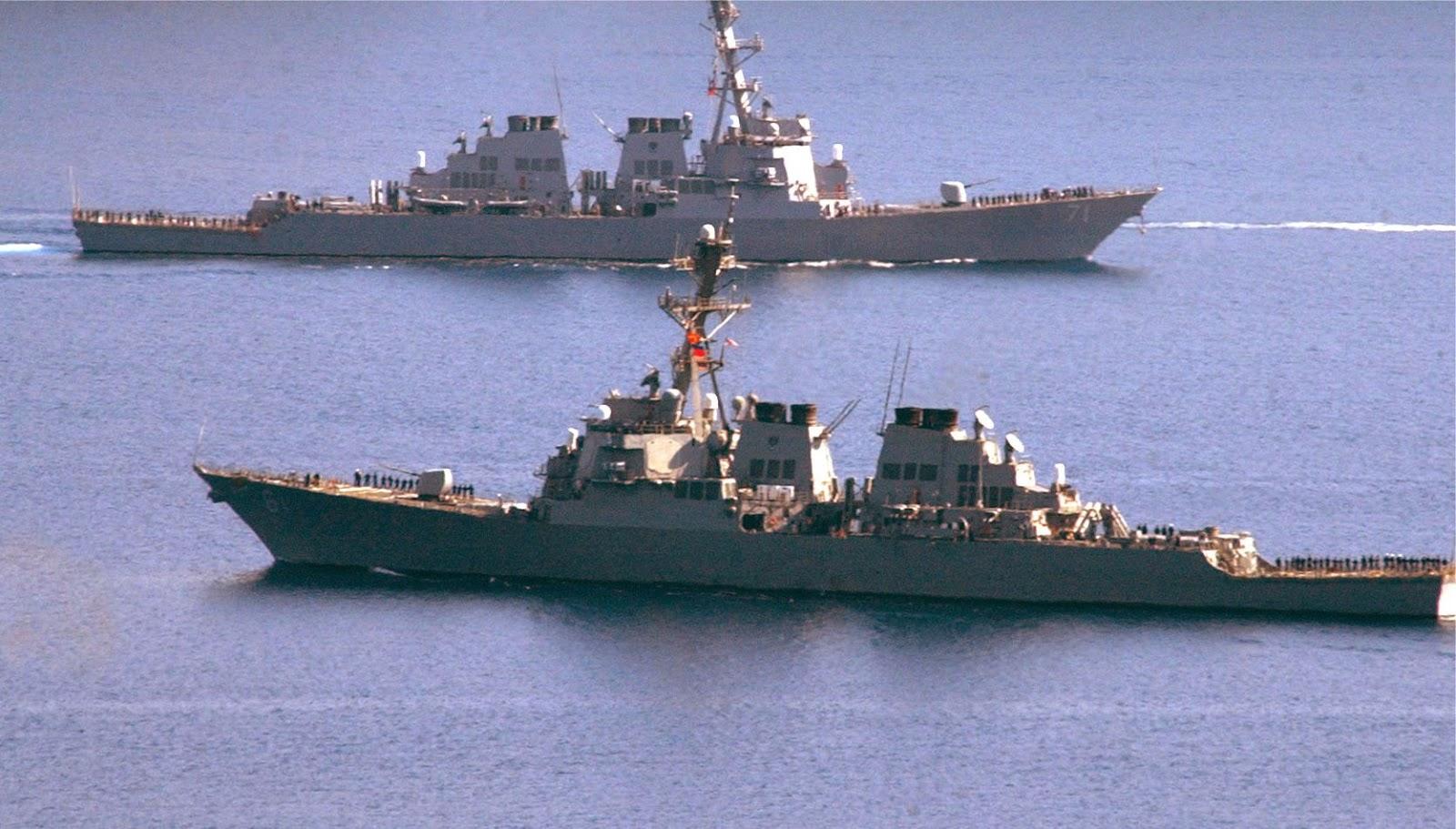 AS menarik kapal-kapal pembawa rudal jelajah ke Timur Tengah untuk menyerang Suriah