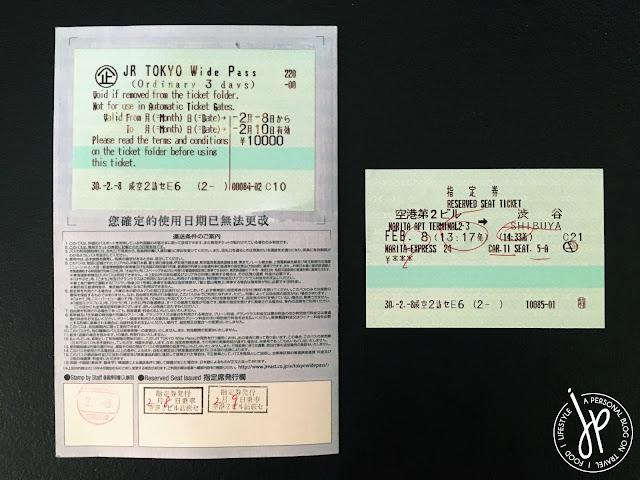 tokyo wide pass, train ticket
