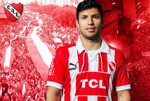 Sergio Agüero was selected to present the new Independiente shirt