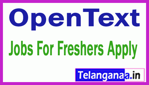 OpenText Recruitment Jobs For Freshers Apply