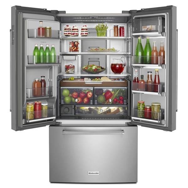 Kitchen Open Shelving Depth: KRFC704FSS KitchenAid Counter-Depth Refrigerator