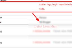 Kode HTML perbaikan kesalahan logo height
