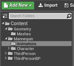 Ue4 enemy characters animations onlinedesignteacher inside the third person template then open the animations folder which is in the mannequin folder once there double click the thirdpersonanimbp malvernweather Choice Image