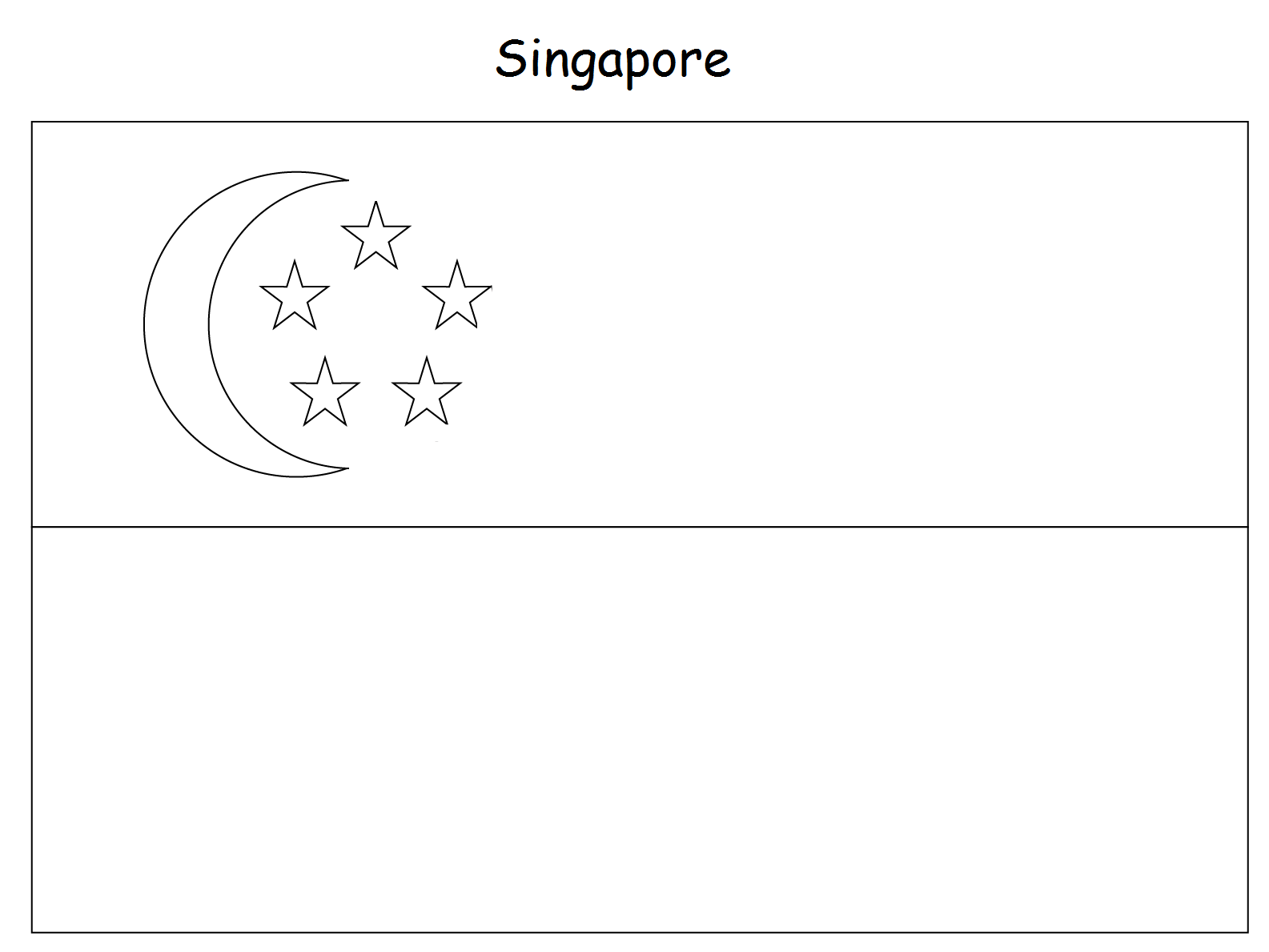 geography blog singapore flag colouring page