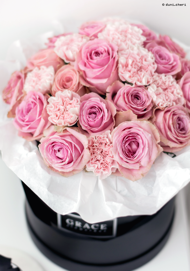 grace flowerbox pink rosen