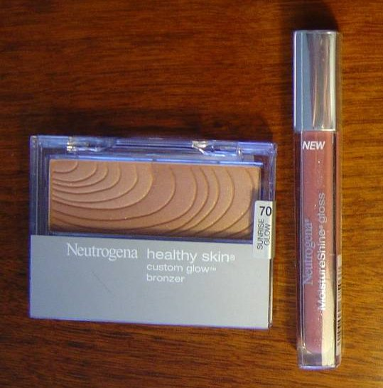 Neutrogena Cosmetics  Healthy Skin Glow Bronzer and Moisture Shine Gloss