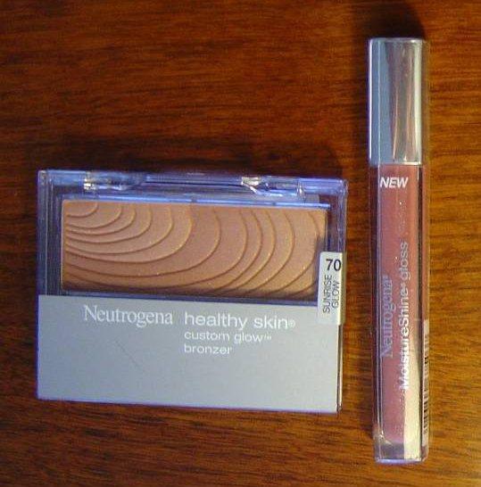 Neutrogena Cosmetics  Healthy Skin Glow Bronzer and Moisture Shine Gloss