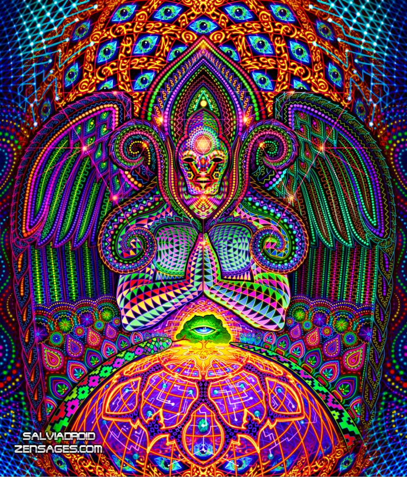 Dmt Inspired Art By Salviadroid