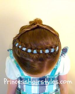 Braided Headband, Jasmine Hairstyle