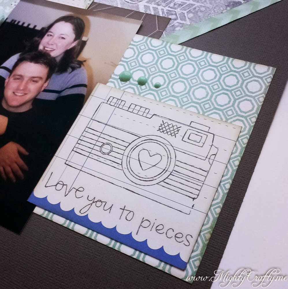 Love You to Pieces layout for Sketch N Scrap -- www.MightyCrafty.me