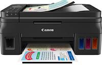 Canon G4600 Drucker mit vier integrierten Tintenbehälter und vier Tintenflaschen ausgestattet, können Sie einfach ausfüllen und dann drucken
