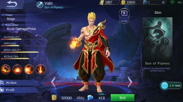 Hero Baru Valir Mobile Legends