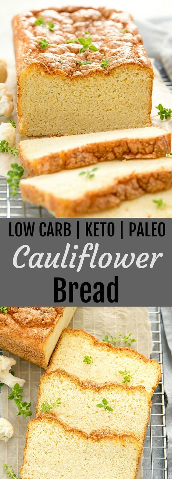 LOW CARB Cauliflower Bread
