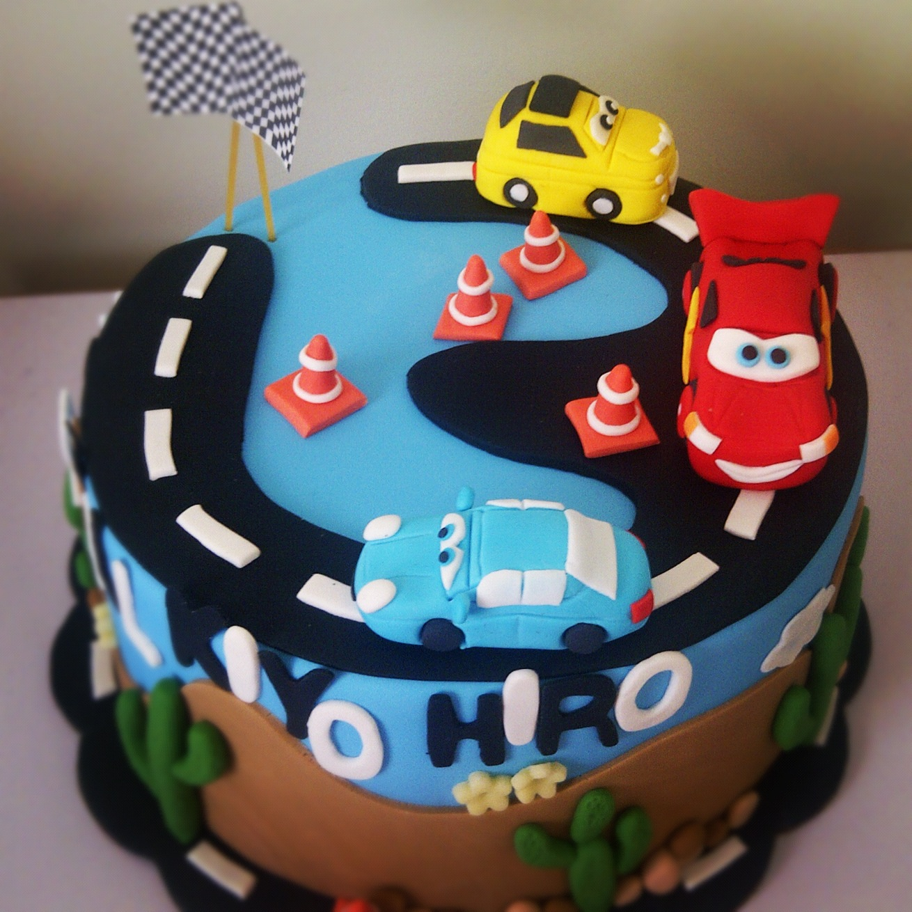Heavenly Dlights Disney Cars Birthday Cake