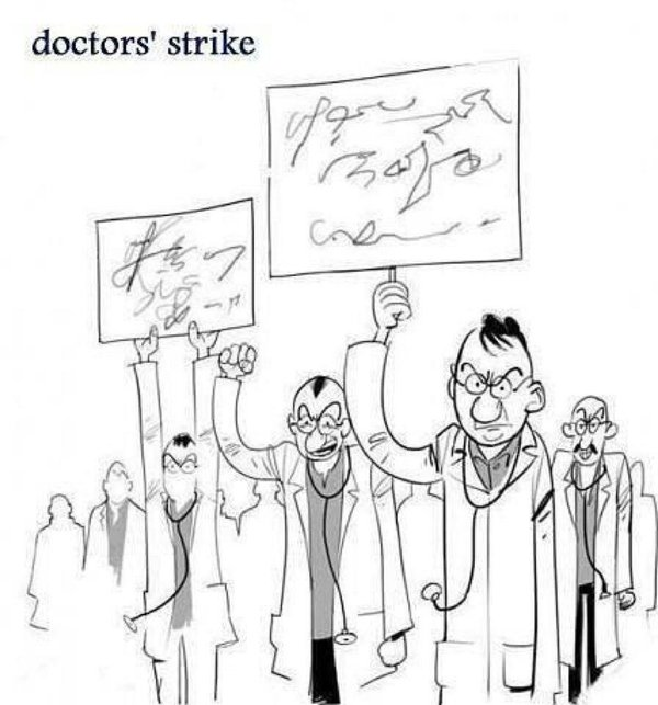 Funny Doctors Strike Signs Joke Picture