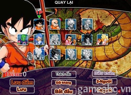 Nhiệm vụ trong game 7 viên ngọc rồng của bạn là đồng hành cùng những nhân  vật trong bộ truyện tranh Songoku vượt qua các thử thách của màn chơi.