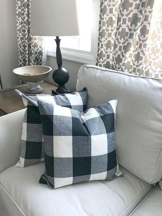 buffalo checked pillows